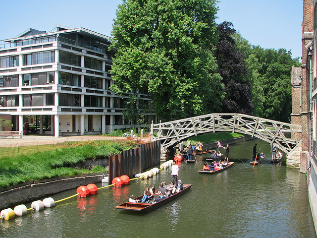 The Cam at Queens': piling, punts and the Mathematical Bridge