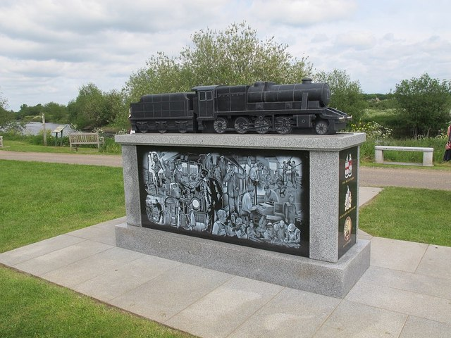 National Memorial Arboretum: Railway industry - rear