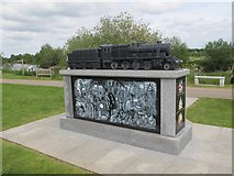 SK1814 : National Memorial Arboretum: Railway industry - rear by Stephen Craven