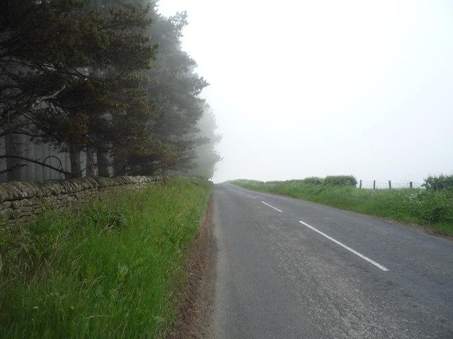 Heading east towards the A68