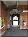 TM0954 : Passageway to Station Yard by Adrian Cable