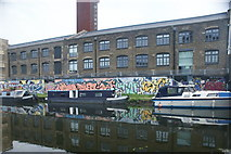 TQ3784 : View of boats moored on the River Lea near Stratford #2 by Robert Lamb