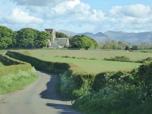 Fields by the road to Bridekirk