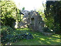 NY1133 : Ruins of the old church in Bridekirk churchyard by Sarah Charlesworth