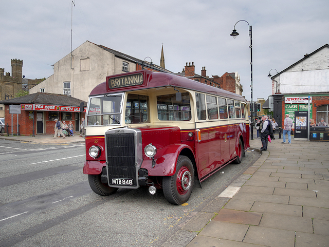 Vintage Bus at Bolton Street Station
