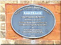 TM0954 : Plaque on Needham Market Railway Station by Adrian Cable