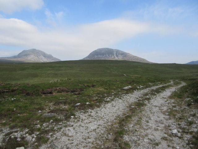Estate track on west coast of Jura