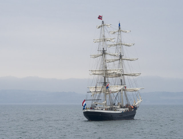 Tall Ship 'Mercedes' off Bangor