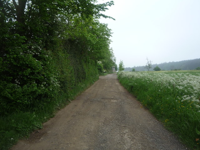 Track (footpath) towards Red Hemmels Farm