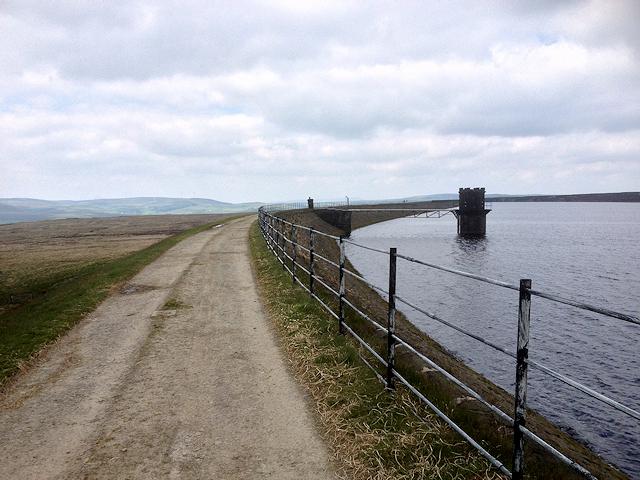 The Pennine Way alongside Warland Reservoir