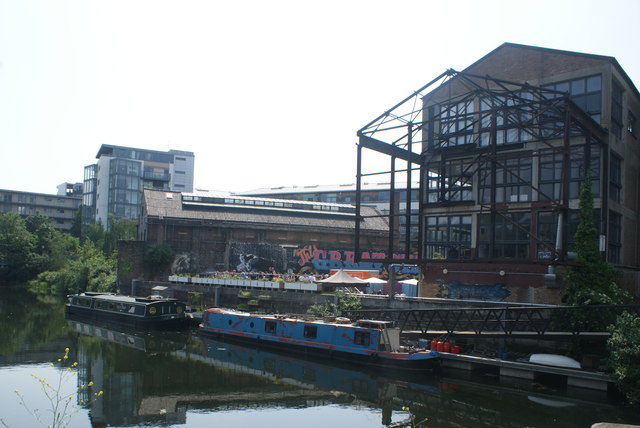 View of the Plough Cafe from the River Lea towpath