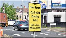 J3573 : Grand Fondo sign, Belfast (June 2016) by Albert Bridge