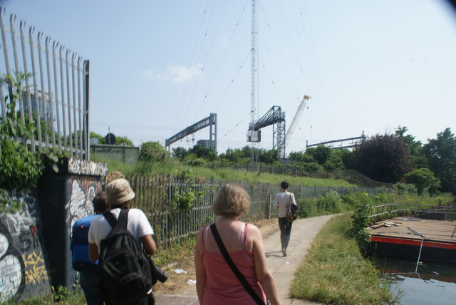 View of the Great Eastern Mainline from the River Lea towpath