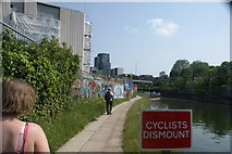TQ3783 : View of street art on the River Lea towpath #3 by Robert Lamb