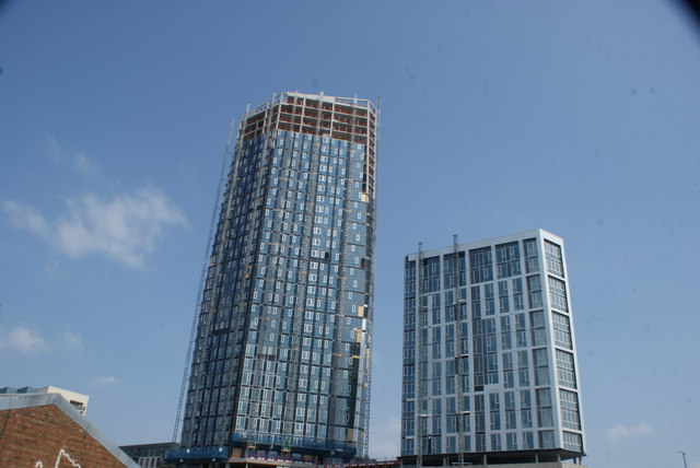 View of Capital Towers next to the Bow Flyover from the River Lea #6