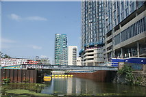 TQ3783 : View along the Bow Back River from the River Lea by Robert Lamb