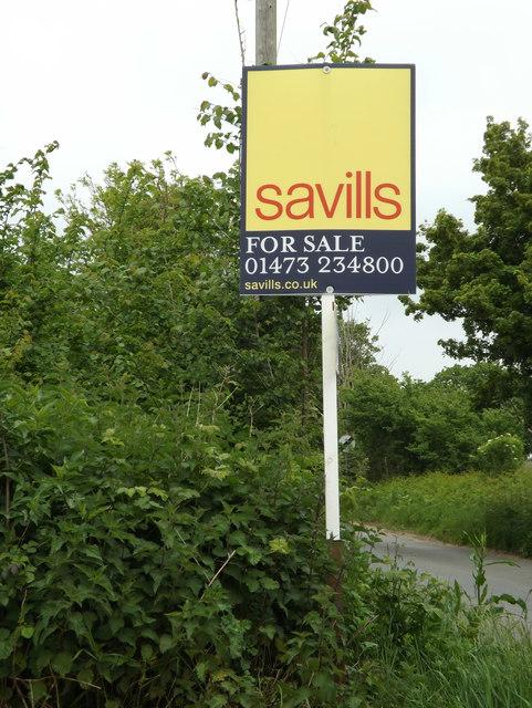 Estate Agent Sale Board off Sternfield Road
