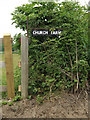 TM3959 : Church Farm sign off Sternfield road by Adrian Cable