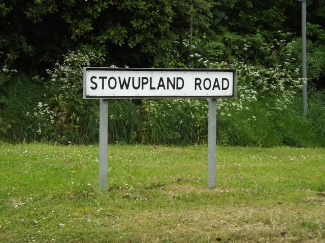 Stowupland Road sign
