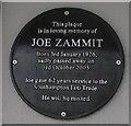 SU4112 : Joe Zammit black plaque, Southampton by Jaggery