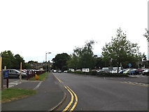 TM0458 : Iliffe Way & footpath to the B1115 Finborough Road by Adrian Cable