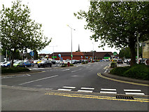 TM0458 : Entrance to Asda Superstore, Stowmarket by Adrian Cable