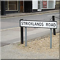 TM0558 : Stricklands Road sign by Adrian Cable