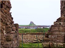 NU1341 : Lindisfarne Castle from the Priory by Len Williams