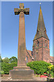 SJ4283 : Speke, War Memorial at All Saints' Church by David Dixon
