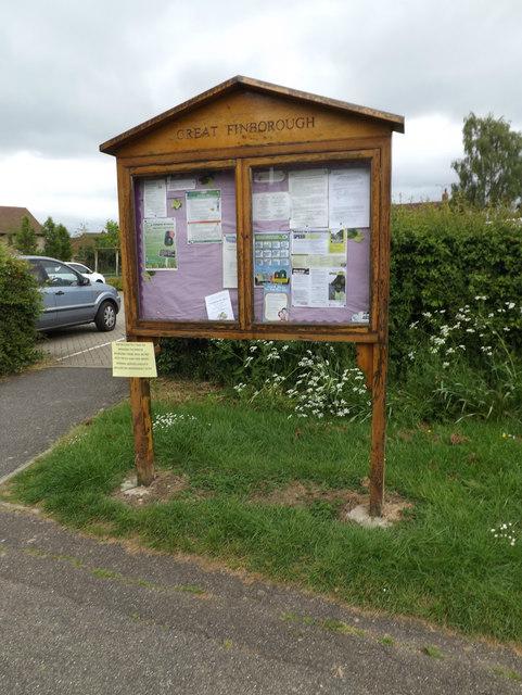 Great Finborough Village Notice Board