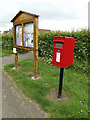 TM0157 : Post Office High Road Postbox & Notice Board by Adrian Cable