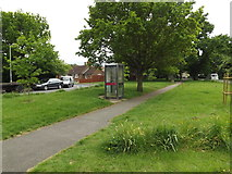 TM0157 : Telephone Box off the B1115 Finborough Road by Adrian Cable