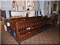SU9272 : St Peter, Cranbourne: choir stalls by Basher Eyre