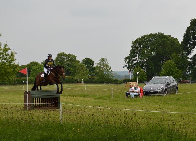 Brand Hall Horse Trials: cross-country obstacle