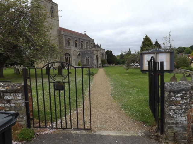 Entrance to St.Nicholas's Church