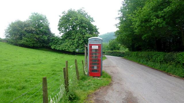 Phone box by Pont Esgob
