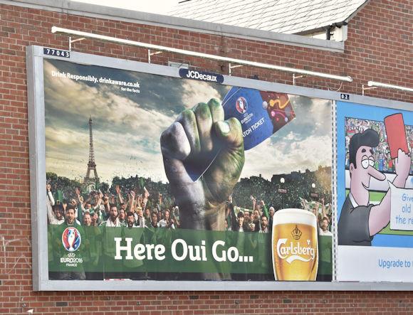 Carlsberg Northern Ireland Euro 2016 poster, Belfast (June 2016)