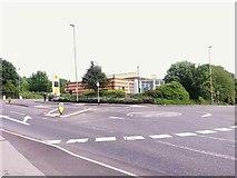 SE2334 : Mini roundabout on Swinnow Road by Stephen Craven