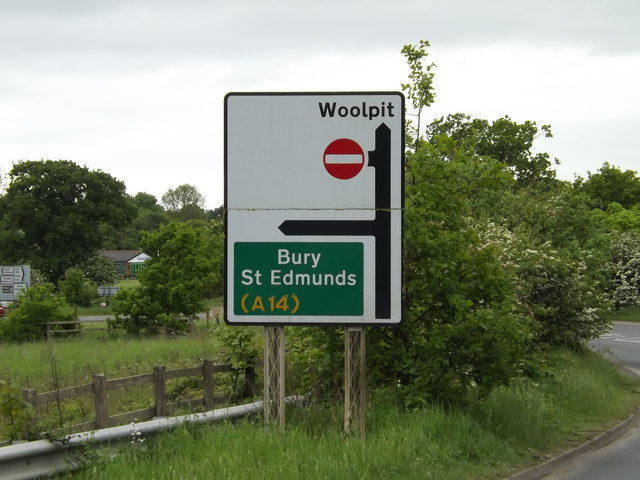 Roadsign on the A1088