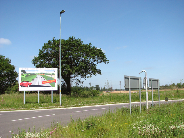 Advertising the Northern Distributor Road