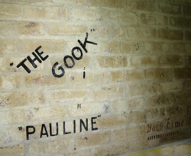 Barrack hut graffiti