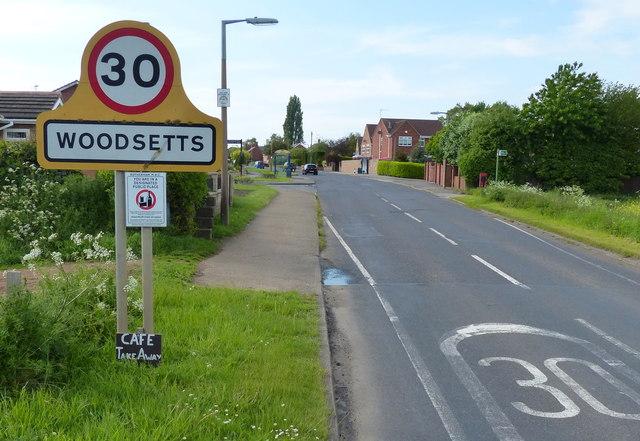 Woodsetts Lane in Woodsetts