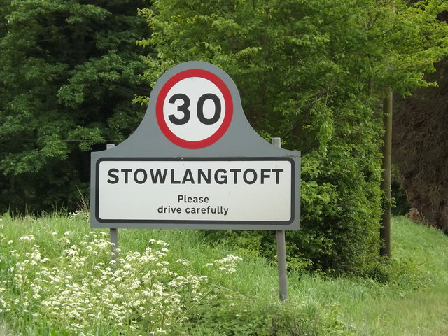 Stowlangtoft Village Name sign