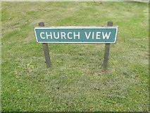 TL9568 : Church View sign by Geographer