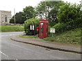 TL9568 : Notice Board, St.George's Road Postbox & Telephone Box by Adrian Cable
