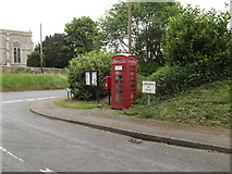 TL9568 : Notice Board, St.George's Road Postbox & Telephone Box by Geographer