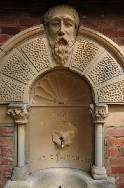 Detail of a drinking fountain