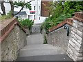 SZ0991 : Bournemouth: looking down footpath C11 by Chris Downer