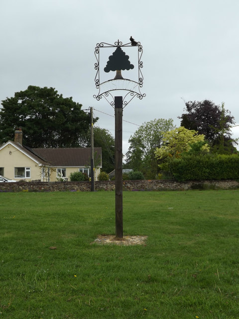 Tostock Village sign on The Green