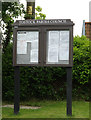 TL9563 : Tostock Village Notice Board by Adrian Cable